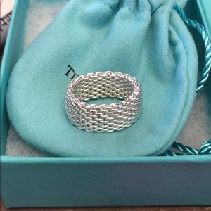 Tiffany and Co Somerset sterling silver ring